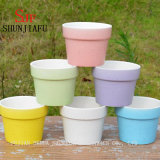 Macaron Colorful Small Succulent Planter Ceramic Flowerpot Container Home Decoration