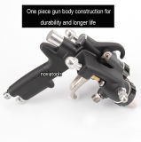 Double Nozzle/Dual Head/Two Components/Silver/ Chrome Spray Gun PT-30