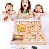 Wooden Montessori Teaching Math Drawing Board Baby Education Puzzle Developmental Toys