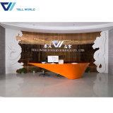 Ce High Quality Cusotmized Design White Salon Reception Desk