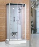 120*80 Rectangle Clear Tempered Glass Shower Seat Shower Cabin
