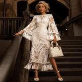 2020 New Cheap White Dacron Dress Lace Long Sleeve Wedding Dresses