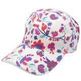 Canvas 6 Panel Fashion Structured Slide Buckle Closure Customize Cotton Screen Printed Baseball Cap