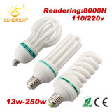 Half Full Spiral Energy Saving Lamp with CFL Raw Material