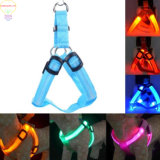 LED Flashing Dog Walking Belt Harness Strong Nylon Webbing Tether Pet Safety Collar Comfortable Strap Vest for Large Medium Dog