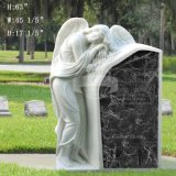 Gravestone Granite Stone Marble Carving Sleeping Angel Tombstone (GSME-100)