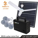 Home Solar Lighting System with Mini Seiling Fan