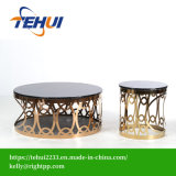 New Modern Stainless Steel Coffee Table Glass Marble Furniture Factory