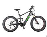 Wholesale Full Suspension Fat Tire Electric Bicycle with Hidden Lithium Battery