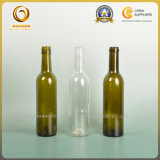 Empty Cork Top 375ml Green and Clear Red Wine Glass Bottle (026)
