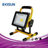 80W Rechargeable Work Exterior LED Flood Lamp with 18650 Battery