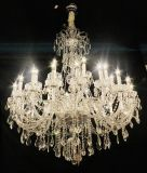 Italy Decoration Style Elegant Chrome Wrought Crystal Chandelier