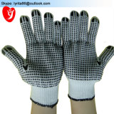 PVC Dotted Safety Cotton Gloves Work Gloves for Farming