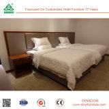 Modern Mahogany Wood Twin Bed Room Furniture Hotel Bedroom Set
