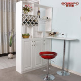 Living Room Furniture White Paint Solid Wooden Wine Cabinet (GSP9-054)