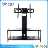 Living Room LCD Wooden Furniture Corner Glass TV Stand
