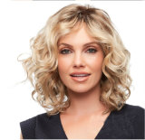 Ew Cheap and High Quality Synthetic Hair Wig, Whole Blond and Black Synthetic Hair