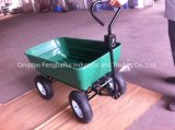 Plastic Tray Pneumatic Wheel Dump Cart (TC2145)