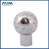 Stainless Steel Rotating Spray Ball with Only Single Slot Both Sides and Bottom Slot Both Sides