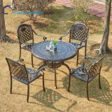 Good Price Die Cast Aluminum Outdoor Furniture Garden Dining Table with 4 Chair