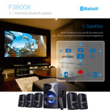 5.1 Home Theater TV Surround Sound Speaker with USB Bluetooth Remote Control LED
