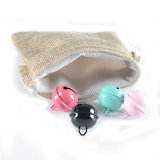Wholesale Custom Cheap Polyester Jute Small Gift Drawstring Bag Pouch
