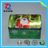 Customized Christmas Curved Rectangular Tin Box