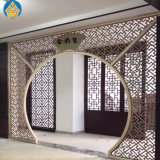 Stainless Steel Decorative Perforated Partition Panels Laser Cut Room Divider