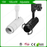 15W/20W COB Adjustable Salon/Club Museum LED Track Lights/Lighting Flicker Free Dimmable SAA Ce RoHS Project Source