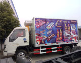 Foton Forland Mini Cheap 5 Ton Cold Room Capacity with Colorful Logo Advertising Refrigerated Van Truck