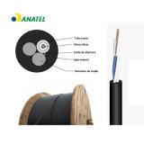 Cable De Fibra Optica Asu80 2/4/6/8/12 Core Single Mode Outdoor Aerial Fiber Optical/Optic Communication Cable with Anatel Certificate