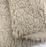 Windproof Downproof Soft Garment Outdoor Fabric 100 Polyester Knitted Fabric Sherpa 150d Shu Velveteen Fleece Fabric Faux Fur Sherpa Fabric