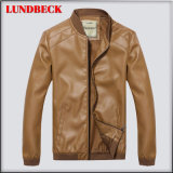Best Sell Winter PU Jacket for Men Leisure Clothes