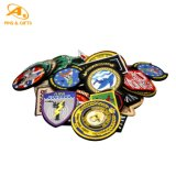 Wholesale Factory Custom Logo Fashion Accessory Cloth Woven Embroidery Garment Hand Silicone Leather PVC Applique Sequin Rubber Velcro Police Embroidered Patch