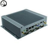 Onboard 4G DDR3 RAM with 6*RS232 COM C1037u Fanless Barebone PC