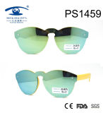 Fashion Plastic Material Kids Sunglasses with Mirror Lens Coating