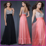V-Neck Chiffon Sequins Maternity Pregnant Party Dress E52710