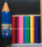 Color Pencil in Plastic Rocket Tube Holder