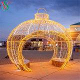 Christmas 3D Large Walk Thru Ornament Giant Ball Arch Lights