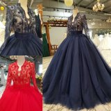 Lace Prom Dresses Red Navy Tulle Wedding Dress Bridal Gown P14819