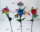 Metal Craft Solar LED Lamp Flower
