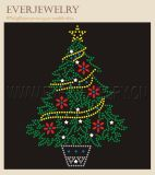 Hot Fix Rhinestone Motif for Christmas