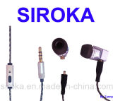 Movable Silicon Cap Earphone with Micro for Sony Z1/Z2
