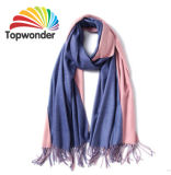 Two Tone Scarf, Made of Acrylic, Cotton, Polyester, Royan or Pashmina, Size, Colors Available
