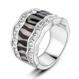 Best Selling Black Attractive Jewellery Latest Design Plated Finger Ring
