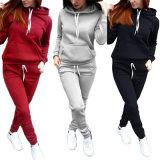 Wholesale Custom Warm Fleece Hoodie Women Tracksuits