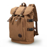 Hot Sale Waxed Drawstring Vintage Canvas School Backpack Sh-15113015