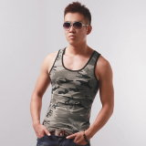 Cool Mens Camo Gym Vest