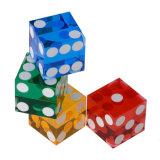 19mm High Quality Precise DOT Casino Transparent Dice