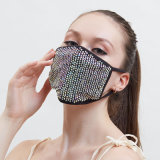Kz09 Factory First Grade Bright Crystal Adult Pretection Polyester Anti Wind Dustproof Face Mask